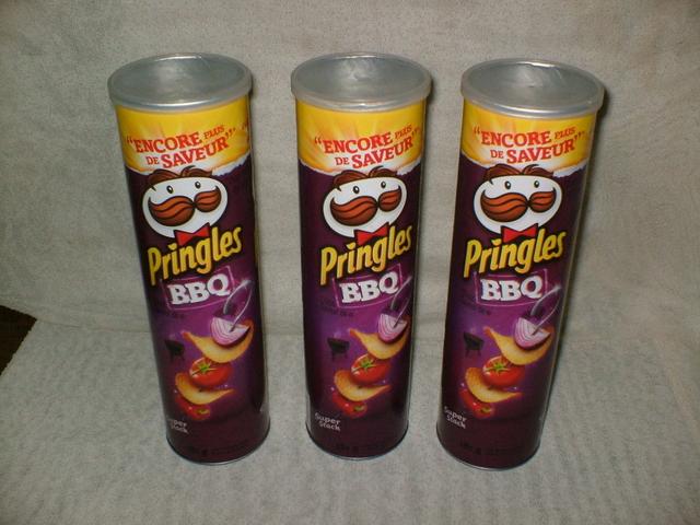 Repurposed Pringles Container Storag