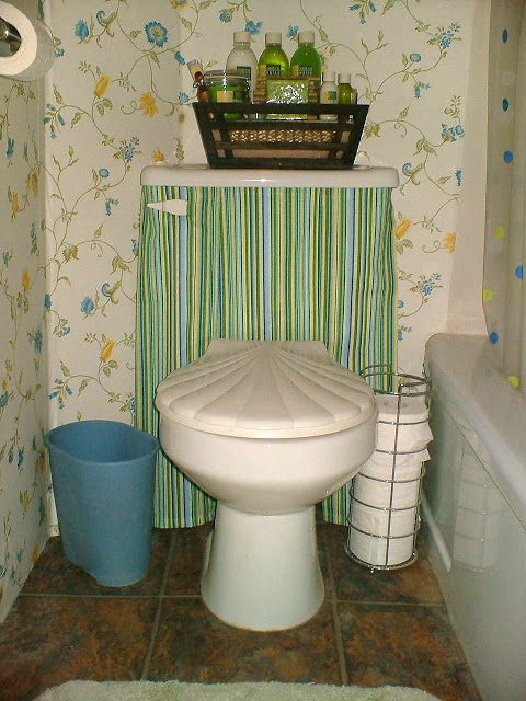 How to Make a Toilet Tank Skirt
