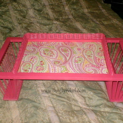 Bed Tray with Magazine Holder Makeover