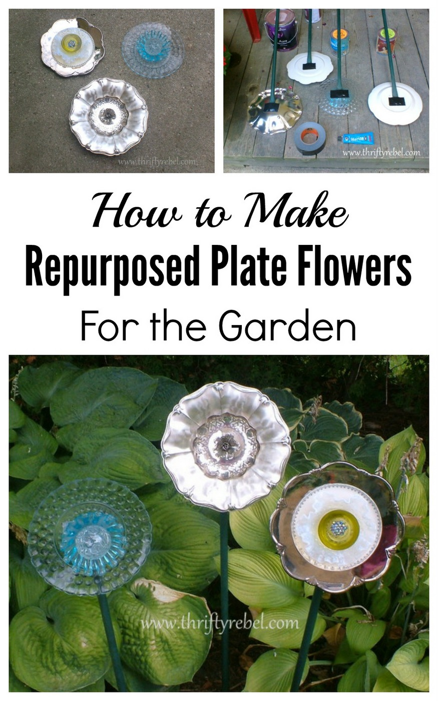 How to make garden plate flowers