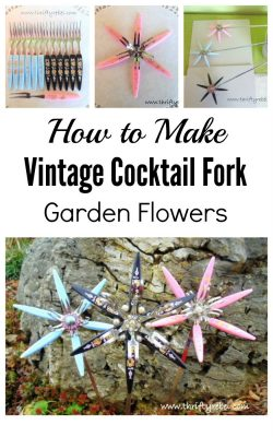How to make repurposed vintage cocktail fork flowers
