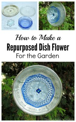 How to make a repurposed dish flower