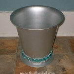 Bejewelled Garbage Can Makeover
