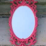 Pink and Pearls Mirror Makeover