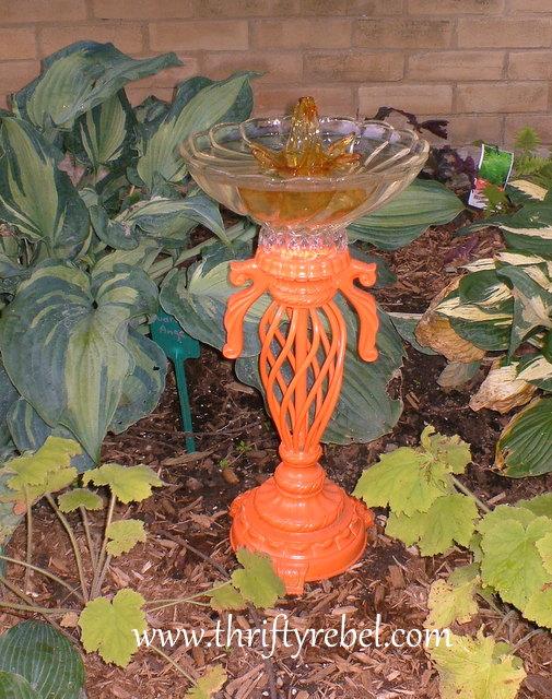 diy-lamp-into-orange-birdbath