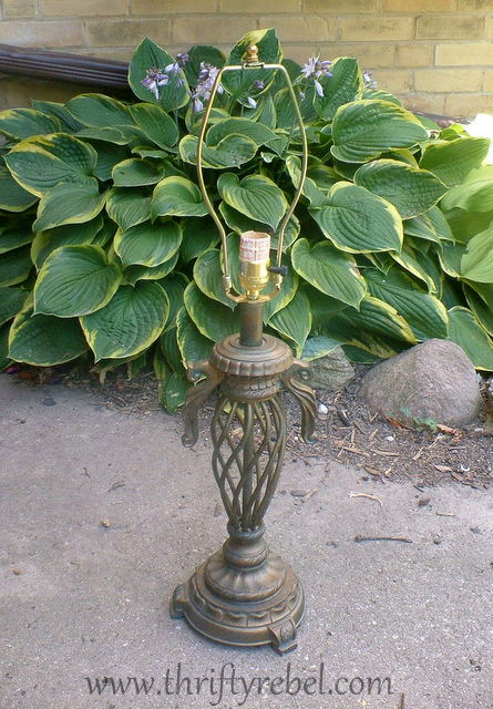 diy-lamp-into-orange-birdbath