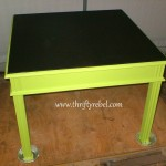 Table Makeover with Chalkboard Paint