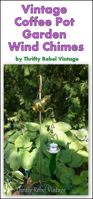 coffee pot garden wind chimes