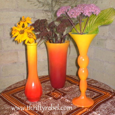How to Spray Paint Ombre Fall Vases