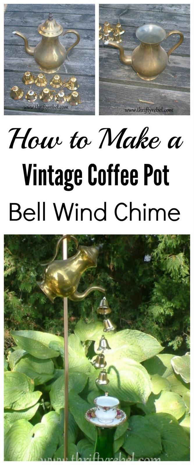Vintage Coffee Pot Wind Chimes