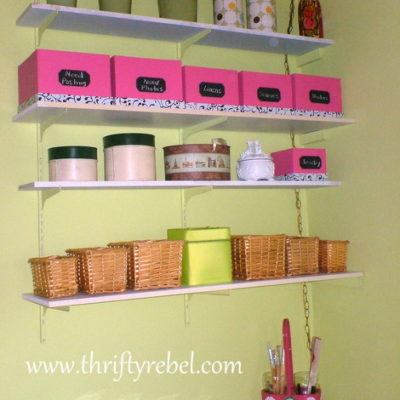 Dollar Store Box Makeover & Craft Room Progress