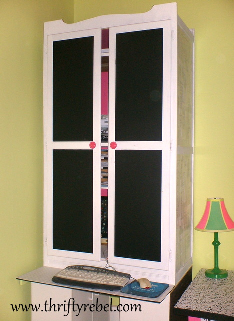 Wardrobe Makeover Into Computer Armoire