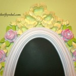 Roses and Ribbon Mirror Makeover into Chalkboard