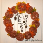 Rusty Rooster Scouring Pad Fall Wreath