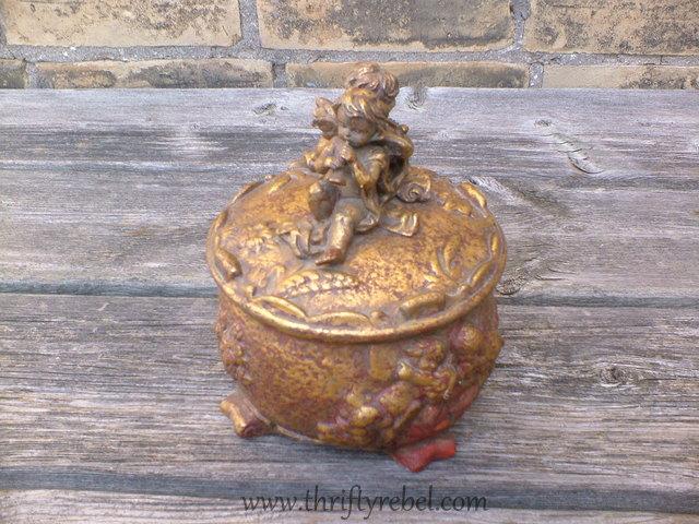 cherub-gold-ceramic-box-makeover