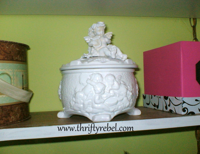 cherub-gold-ceramic-box-makeover
