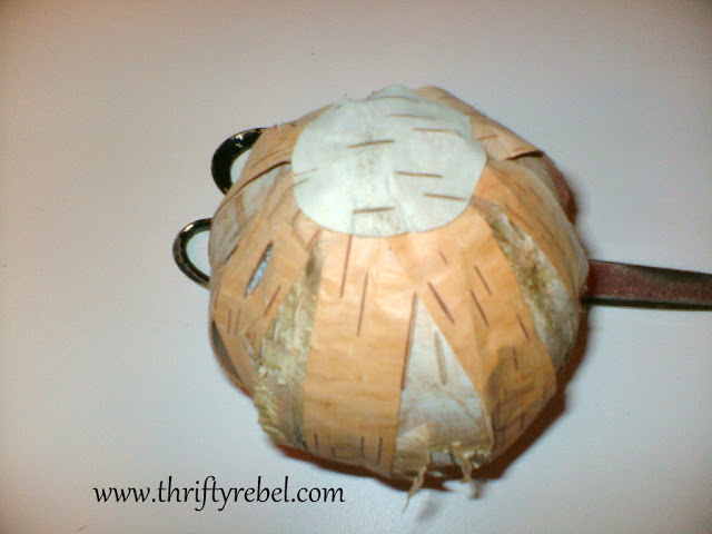 Birch Bark Christmas Ornament