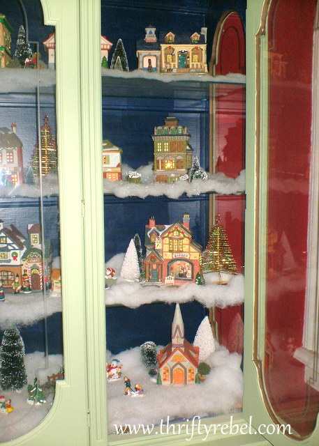 Marvelous Our Christmas Village Display Cabinet Color Me Thrifty Complete Home Design Collection Barbaintelli Responsecom