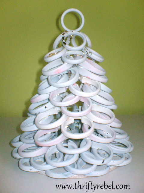 Shower Curtain Ring Christmas Tree