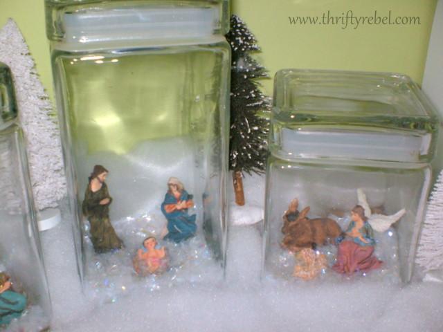 Mini Nativity Set Display