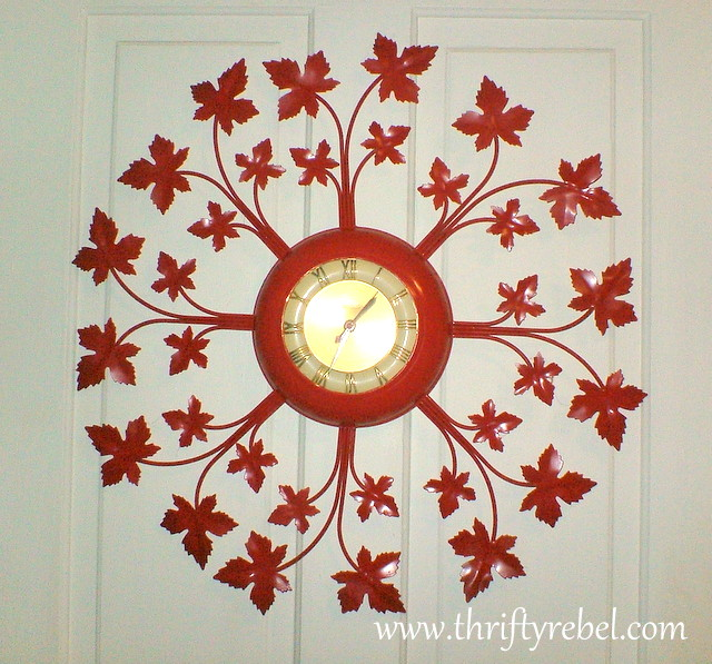Red Hot Wall Clock Makeover