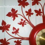 Red Hot Vintage Wall Clock Makeover