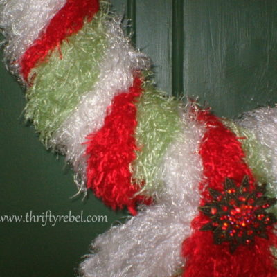 A Christmas Wreath Made of Scarves