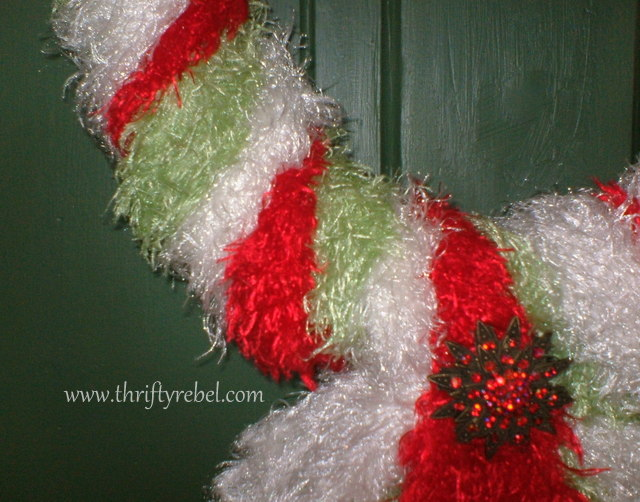 Christmas Wreath Made of Scarves