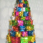 Dollar Store Christmas Tree of Presents