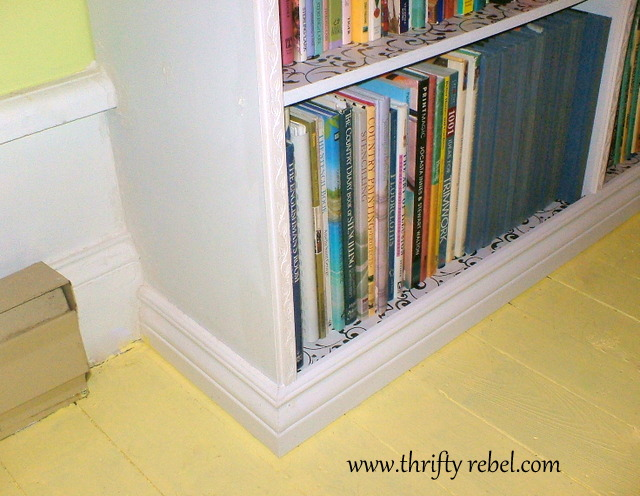 DIY Built In Bookcase