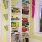 DIY Built In Craft Room Bookcase