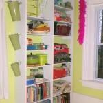 DIY Built In Craft Room Bookcase