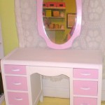 Pretty in Pink Vanity & Mirror Makeover