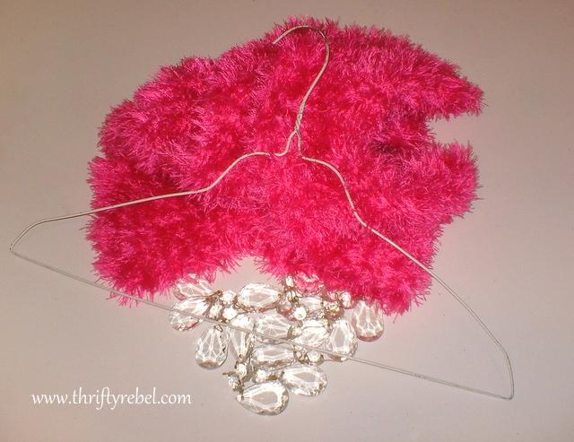Scarf Valentine's Day Wreath