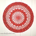 Large Painted Doily Wall Art