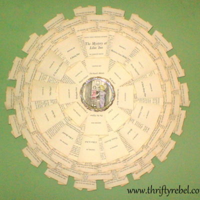Nancy Drew Book Page Wreath