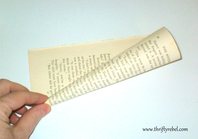 Book Page Wreath