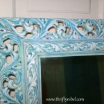 French Caribbean Mirror Makeover