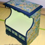 Impressionist Decoupaged Night Table Makeover