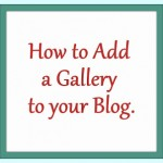 Add a Project Gallery to your Blog