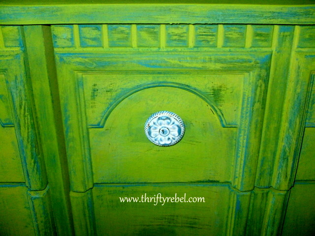 Painted and Distressed Dresser Makeover
