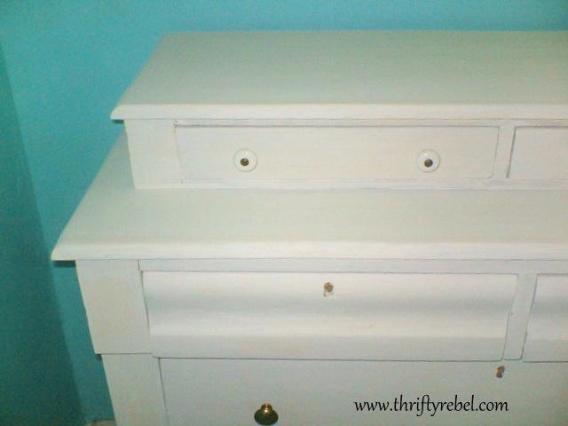 White Chalk Paint Dresser Makeover