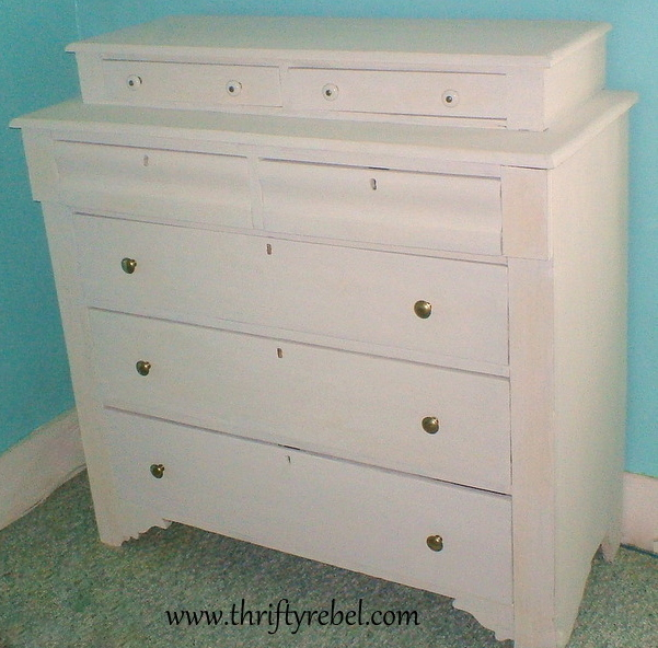White Chalk Paint Dresser Makeover