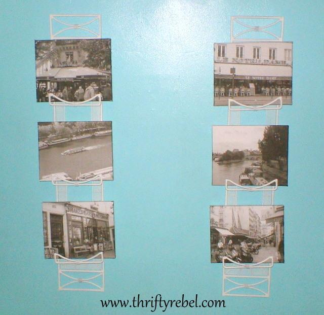 Decoupaged Photos on Canvas Frames