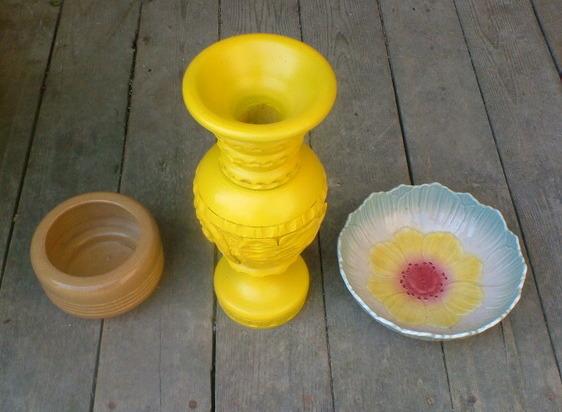 DIY Vase Birdbath