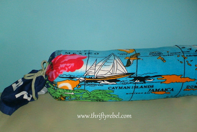 No Sew Souvenir Towel Bolster Pillow