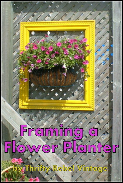 Framing a flower wall planter
