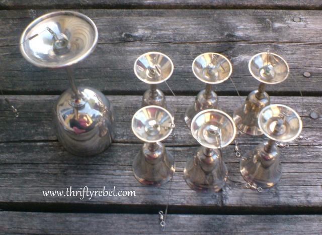 DIY Silver Goblet Wind Chimes