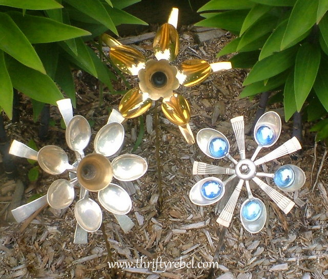 how to make melted spoon flowers