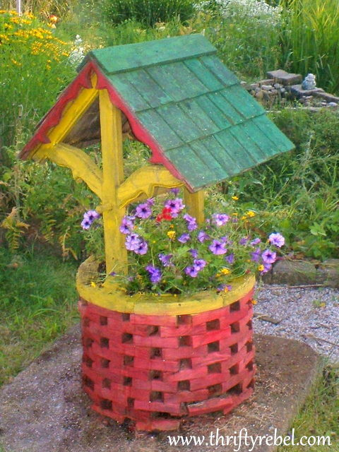the wishing well swan song  thrifty rebel vintage, Garden idea
